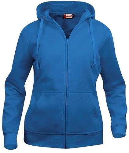 Clique Basic hoody full zip-XS-Kobalt