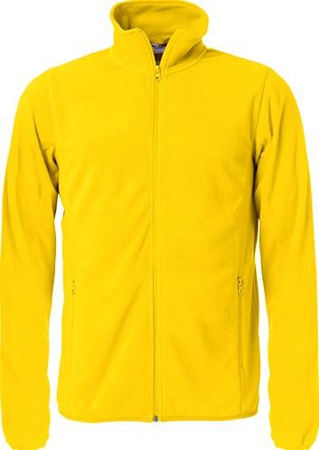 Clique Basic micro fleece jacket-XS-Lemon