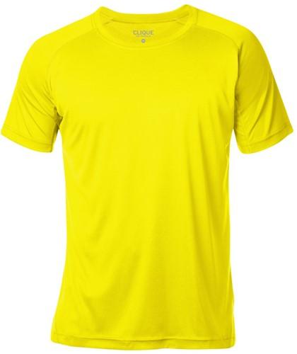 Clique Active-T T-shirt-S-Signaalgeel