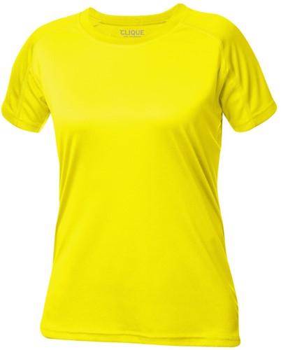 Clique Active-T Ladies T-shirt-S-Signaalgeel