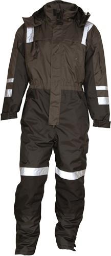 SALE! Elka 088002 Regen Overall gevoerd - Zwart/Grijs - Maat XL
