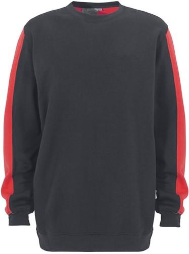 SALE! Graphix 163280 Venezia Sweatshirt - Antraciet/Rood - Maat XL