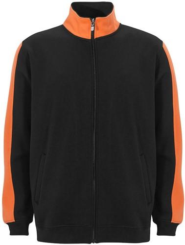 SALE! Graphix 163920 Genova Sweatshirt met ritssluiting - Zwart/Oranje - Maat XS