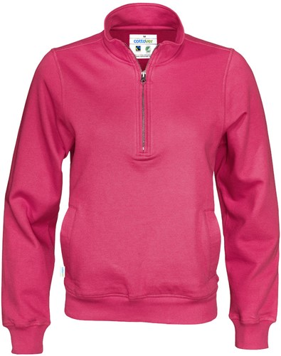 SALE! Cottover 141012 Half zip sweater - Dark Cerise - Maat XL