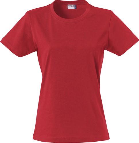 SALE! Clique 029031 Basic-t Dames T-shirt - Rood - Maat M