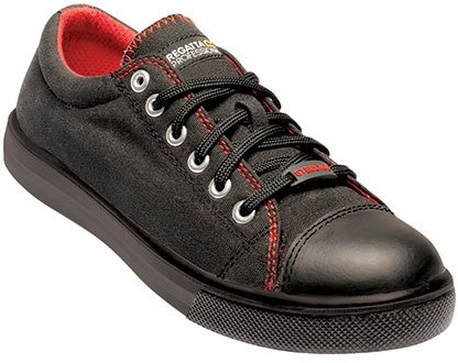 Regatta RGH107 Playoff S1P Safety Sneaker - Zwart / Rood - 39