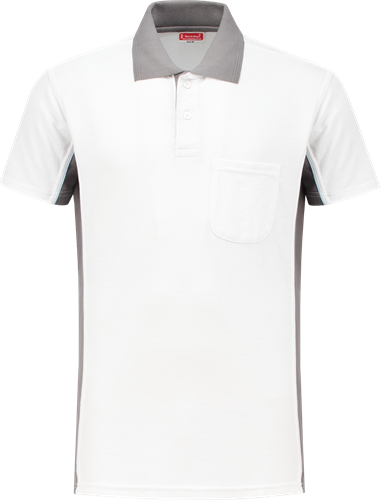 Workman 1408 Poloshirt - Wit/Grijs
