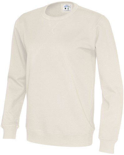 SALE! CottoVer 141003 Crew Neck Trui - Off white - Maat M