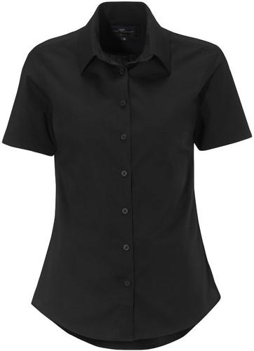 SALE! Derby of Sweden 1672097 Thomson Lady Short Sleeve - Zwart - Maat 38
