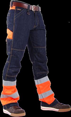 Crosshatch Toolbox-FO Spijkerbroek Fluor Oranje - Breedte 28 - Lengte 30