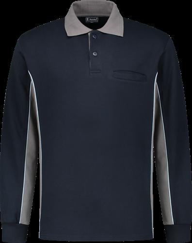 Workman 2402 Polosweater - Navy/Grijs