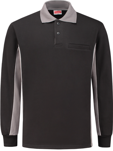 Workman 2406 Polosweater - Zwart/Grijs