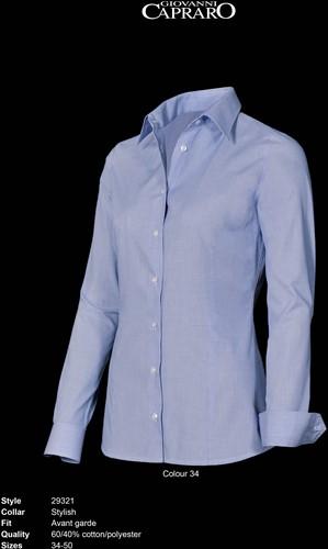 SALE! Giovanni Capraro 29321-34 Blouse - Licht Blauw - Maat 34