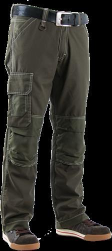 Crosshatch Toolbox-GC Professional TWF Spijkerbroek - Groen-Breedte 34 - Lengte 34