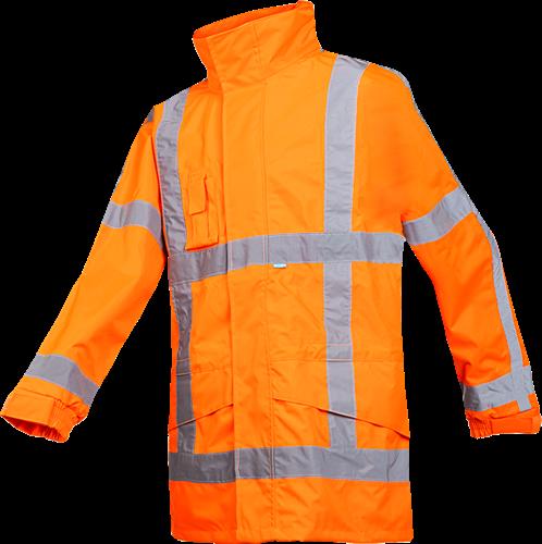 SALE! Sioen 350AA2EX1FC1L Boorne Signalisatie Regenjas (RWS) - Fluo Oranje - Maat L