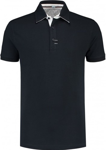 SALE! Lemon & Soda 3562 Polo Katoen & Elasthan - Dark Navy - Maat 2XL