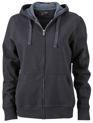 James & Nicholson  JN594 Dames Hooded Jacket