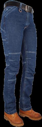Crosshatch Toolbox-LS Dames Spijkerbroek Stretch-Breedte 28 - Lengte 30
