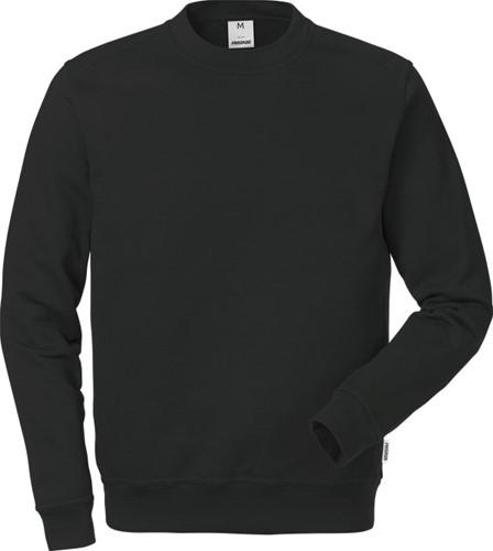 SALE! Fristads 121631 Katoenen sweatshirt 7016 SMC - Zwart - Maat L