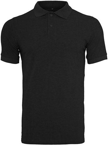 SALE! Build Your Brand BY008 Polo Piqué Shirt - Zwart - Maat L
