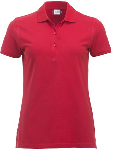 SALE! Clique 028246 Classic Marion Dames polo - Rood - Maat M