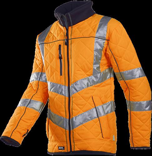 SALE! Sioen 725ZA2IJ2 Castor Signalisatie jas gematelasseerd met fleece voering - Fluo Oranje - Maat L