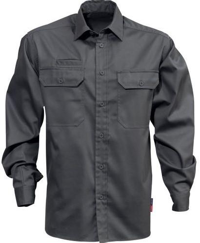 SALE! Fristads 100732 Katoenen overhemd 7386 BKS - Grijs - Maat L