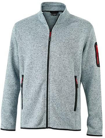 James & Nicholson  JN762 Heren Knitted Fleece Jacket