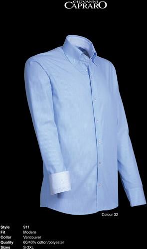 SALE! Giovanni Capraro 911-32 Heren Overhemd - Licht Blauw gestreept - Maat 2XL