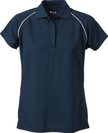 Acode Dames CoolPass poloshirt-S-Donker marineblauw