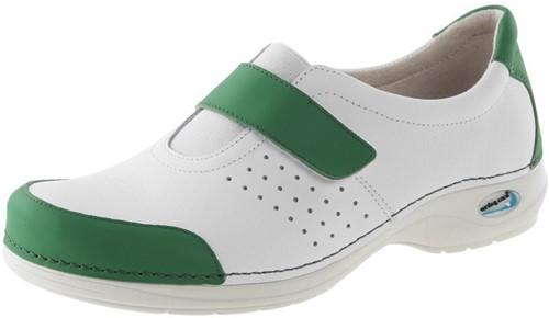 Wash&Go Clog Gesloten wit/groen