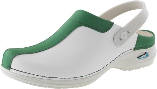 Wash&Go Clog Open - wit/groen