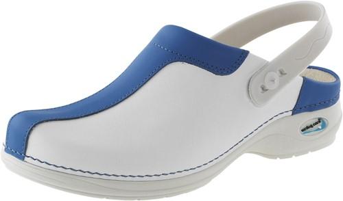 Wash&Go Clog Open - wit/licht blauw