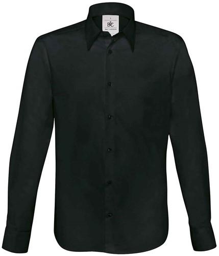 SALE! B&C BCSM580 London Overhemd - Zwart - Maat L
