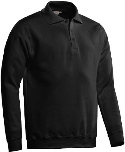 SALE! Santino Polosweater Robin - Zwart - Maat 2XL