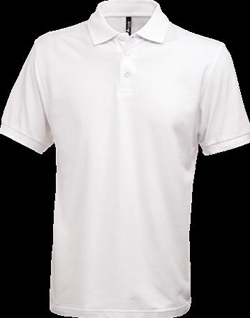 OUTLET! Acode Herenpoloshirt, zware kwaliteit-Wit - Maat XL