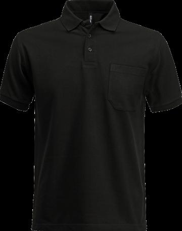 SALE! Acode 100219 Polo piqué zware kwaliteit met borstzak - Zwart - Maat L