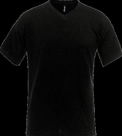 SALE! Acode 100241 T-shirt met V-hals - Zwart - Maat 2XL