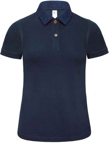 SALE! B&C 1017496 Dames Polo - Denim / Navy - Maat XL