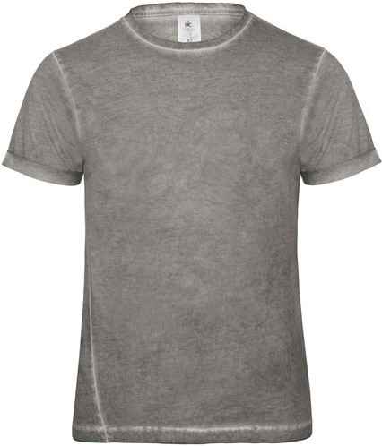SALE! B&C 10071 DNM Plug In Heren T-shirt Grijs Clash - Maat XL