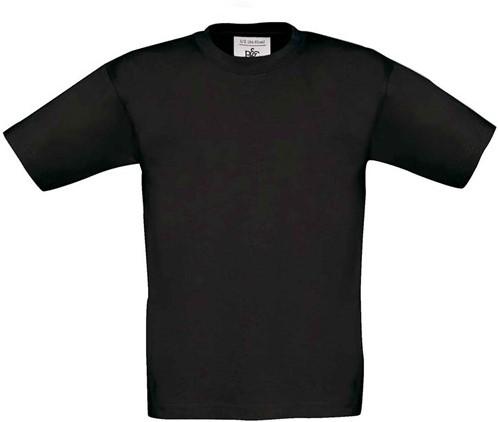 SALE! B&C 1004024 Excat 190 Kids T-shirt - Zwart - Maat 104