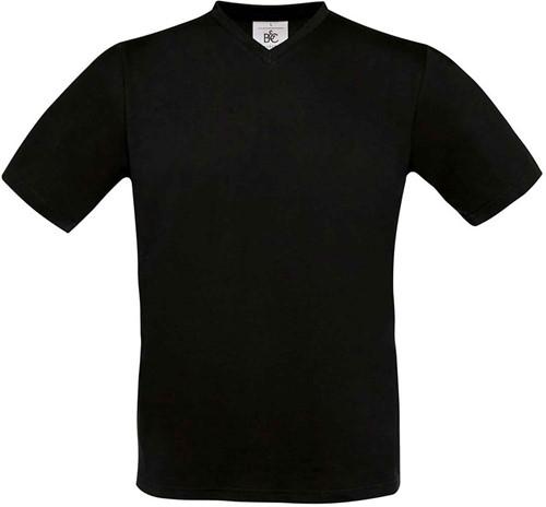 SALE! B&C BC0099 Exact V-Neck T-shirt - Zwart - Maat L