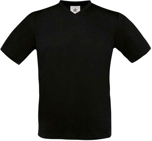 SALE! B&C BC0099 Exact V-Neck T-shirt- Zwart - Maat S
