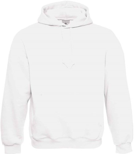 OUTLET! B&C Hooded Sweater-Wit- Maat XXS