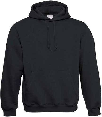 SALE! B&C Hooded Sweater - Zwart - Maat XL