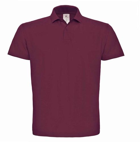 OUTLET! B&C ID.001 Poloshirt - Wine - Maat XL