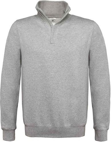 SALE! B&C BC0156 Zip sweater Heather - Grijs - Maat L