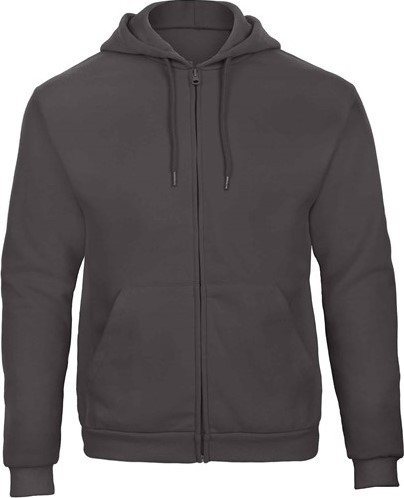SALE! B&C BC01561705 Sweater full zip - Grijs - Maat XL