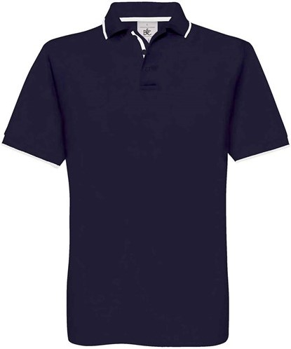 OUTLET! B&C Safran Sport Polo Navy / Wit - Maat L
