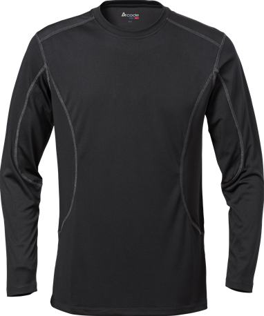 Acode CoolPass T-shirt met lange mouwen-Zwart-XS